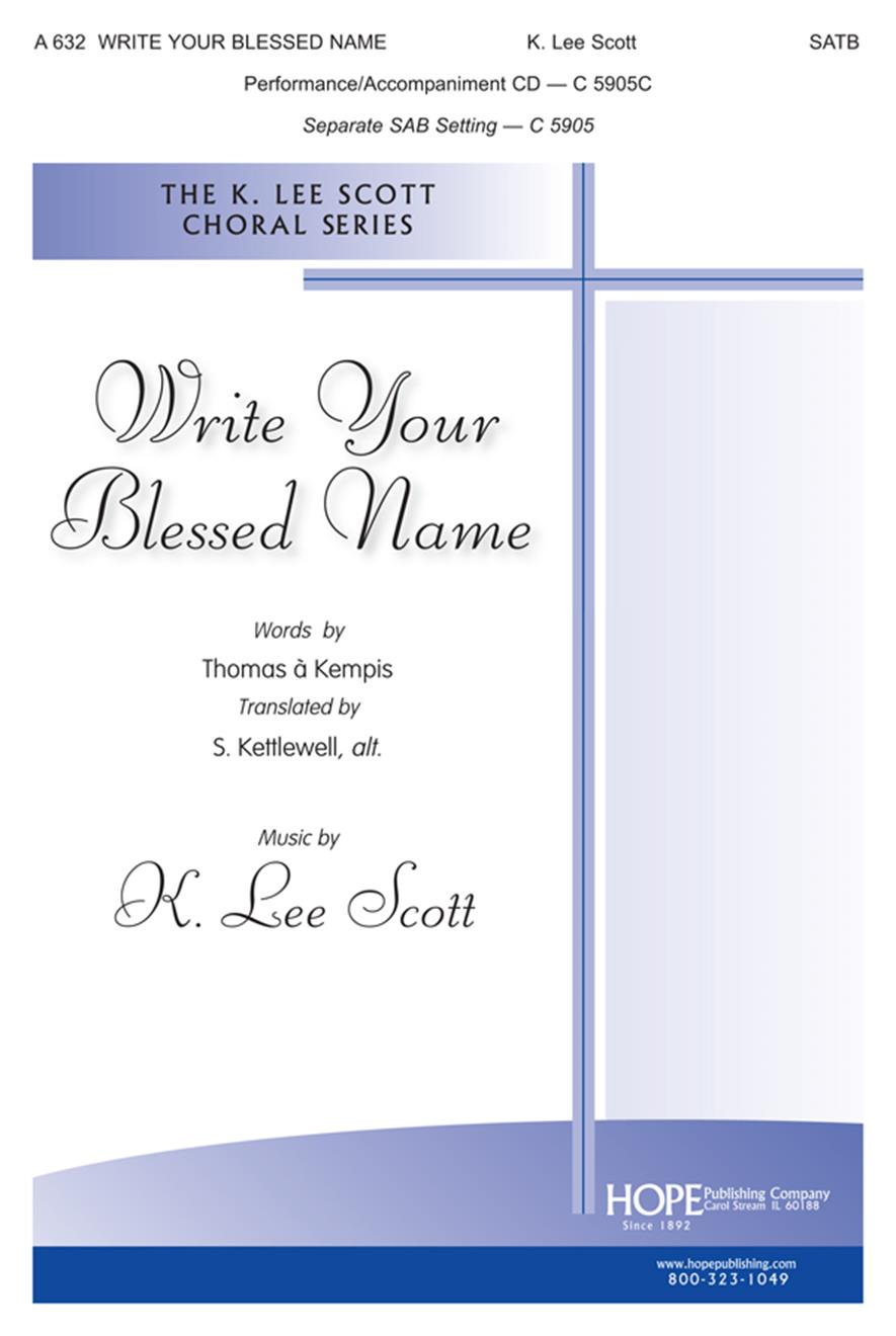 Write Your Blessed Name - SATB Cover Image