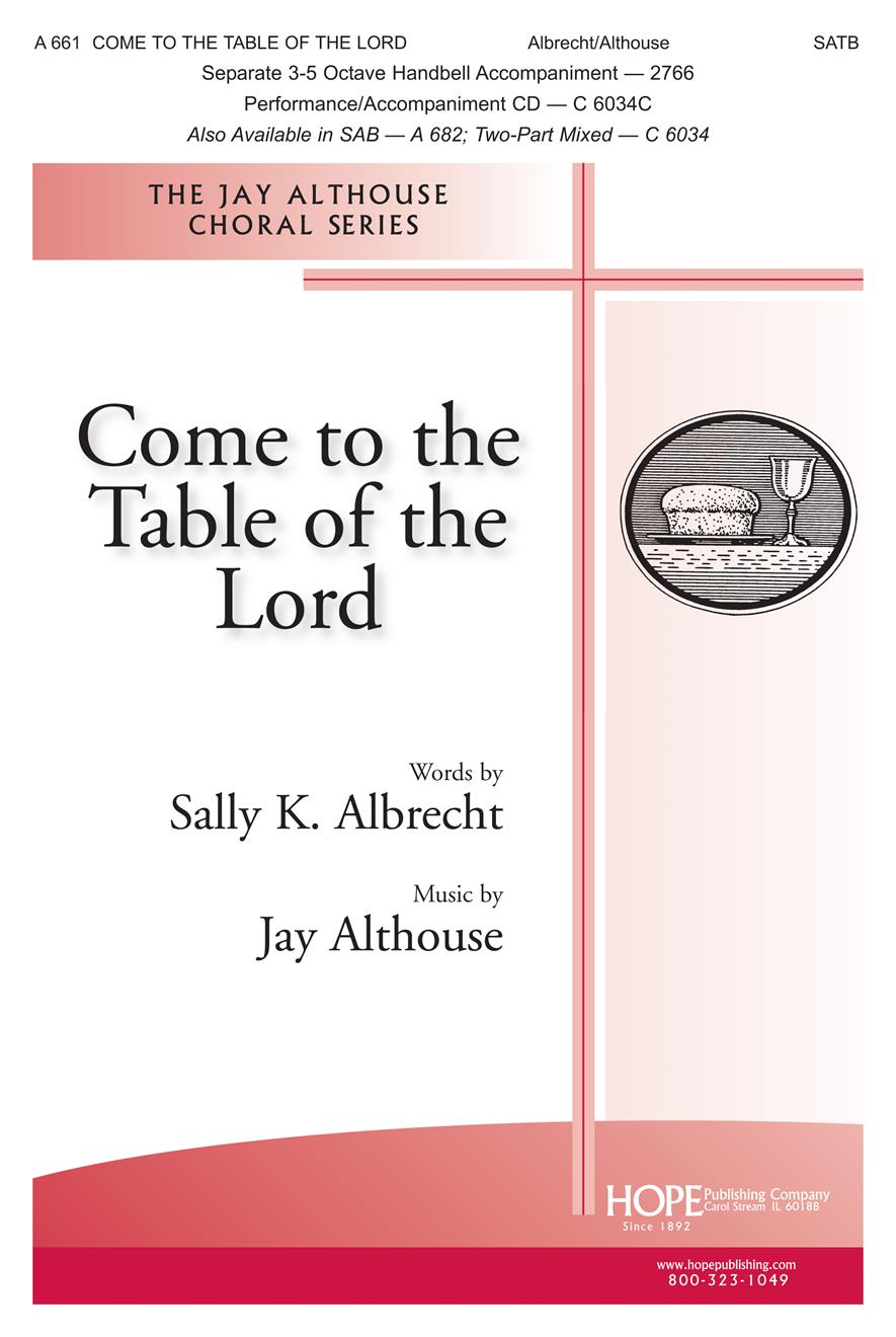 Come to the Table of the Lord - SATB Cover Image