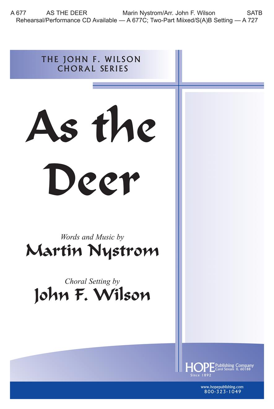 As the Deer - SATB Cover Image