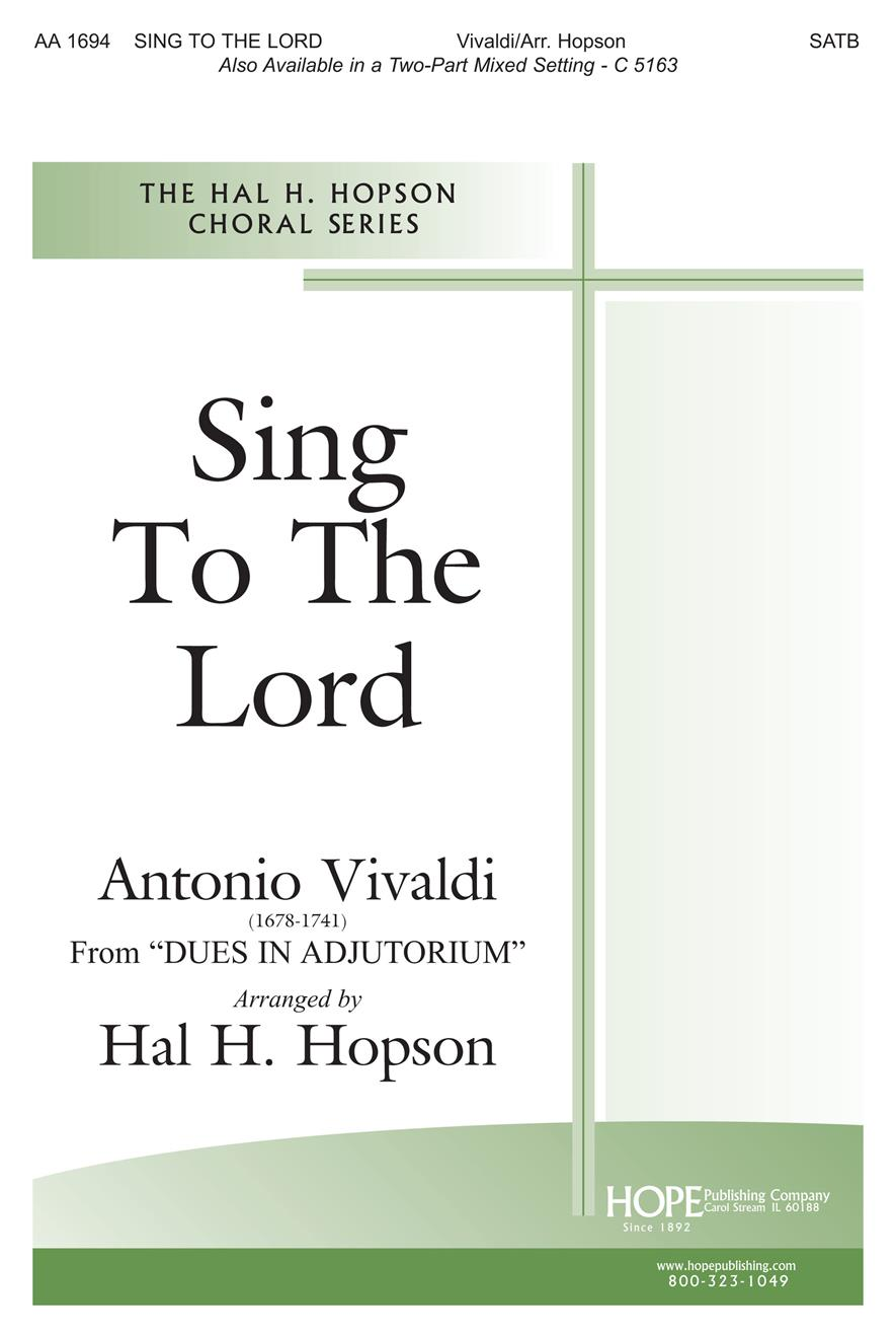 Sing to the Lord - SATB Cover Image