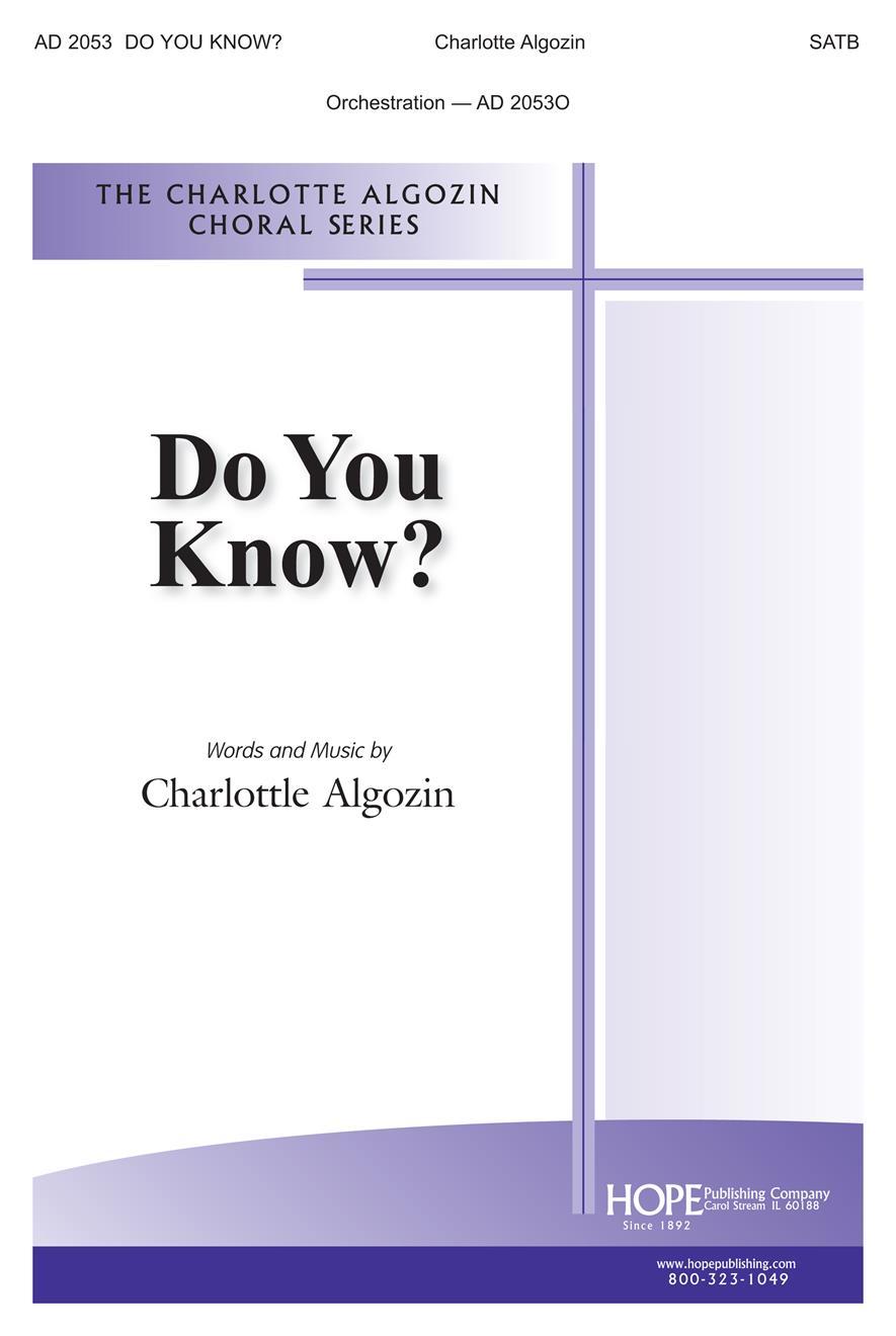 Do You Know - SATB Cover Image