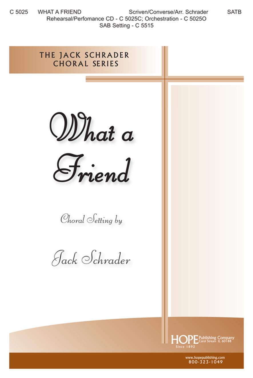 What a Friend - SATB Cover Image