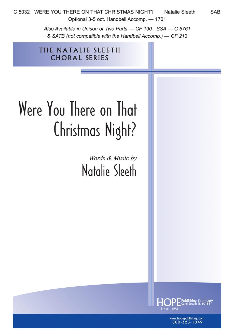 Were You There on That Christmas Night - SAB w-opt. Handbells Cover Image