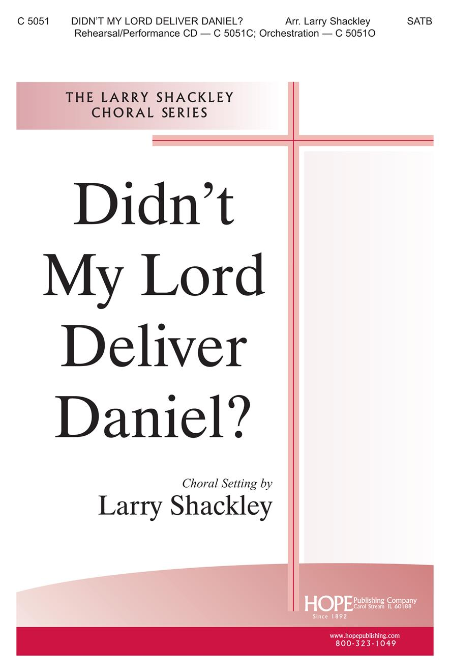 Didn't My Lord Deliver Daniel - SATB Cover Image