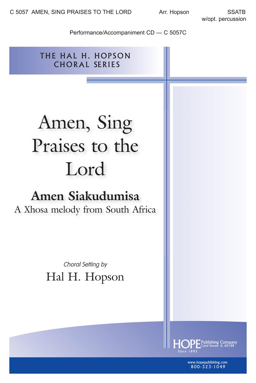 Amen Sing Praises to the Lord - SATBB and Soloist w-opt. Percussion Cover Image