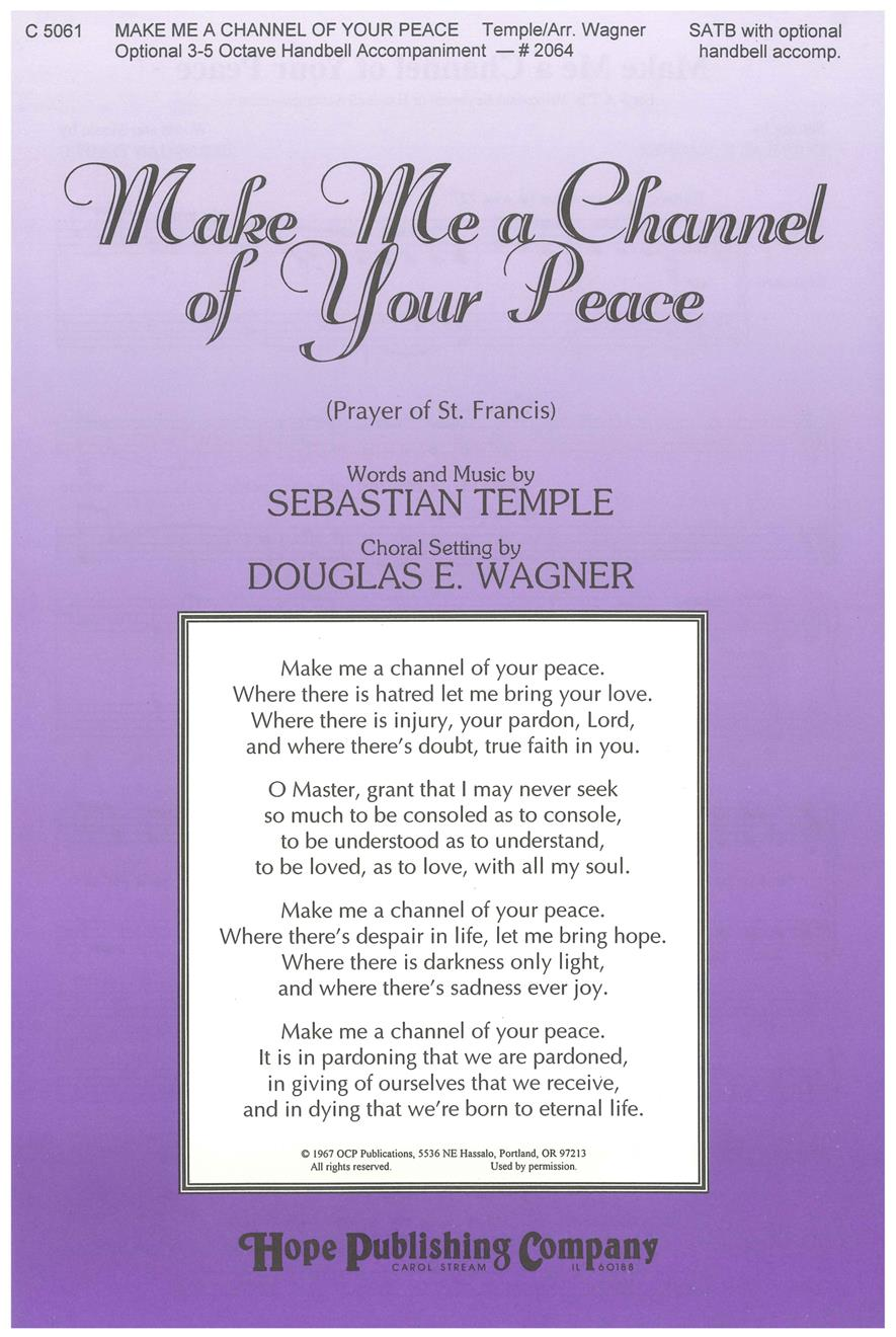 Make Me a Channel of Your Peace - SATB Cover Image