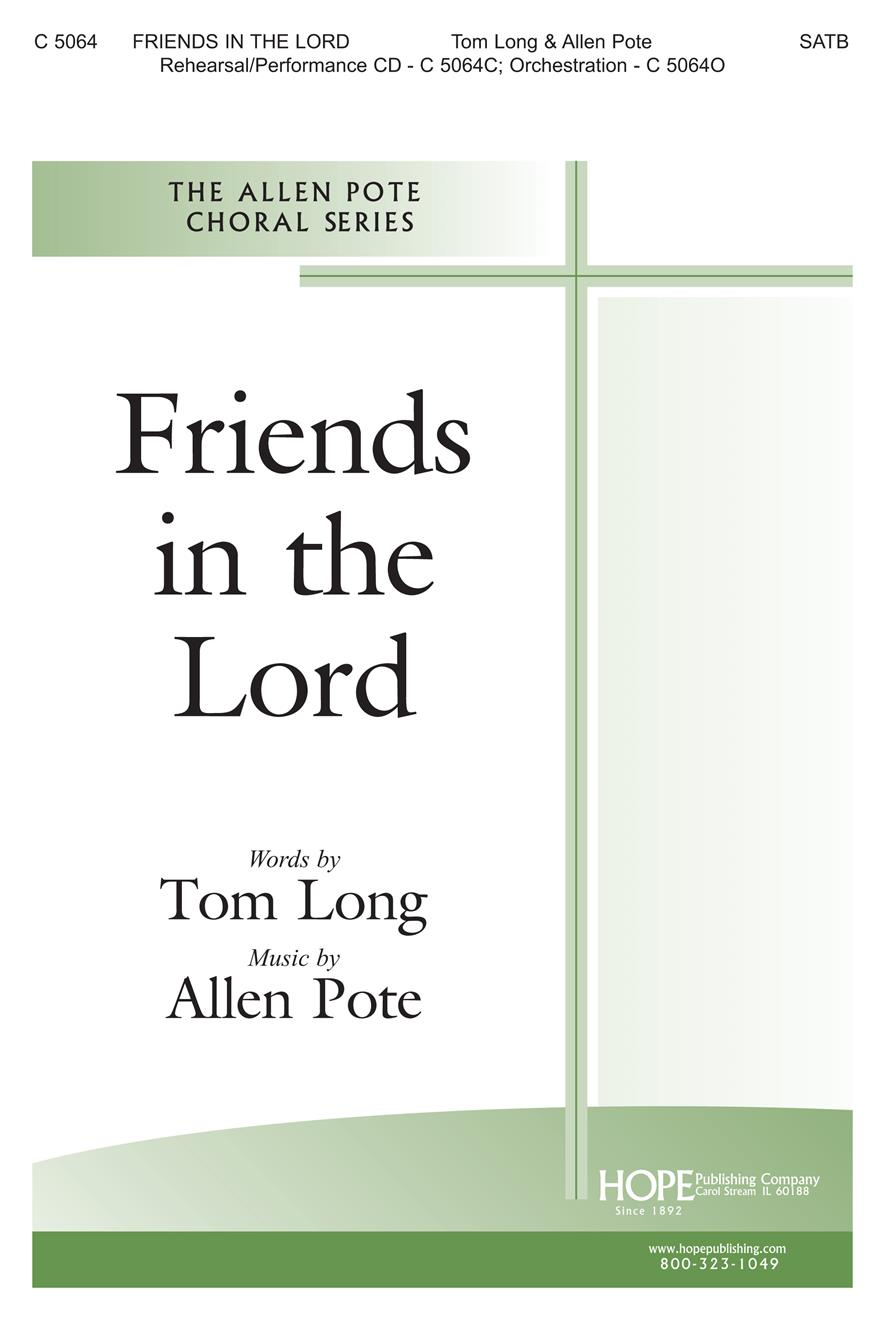Friends in the Lord - SATB Cover Image