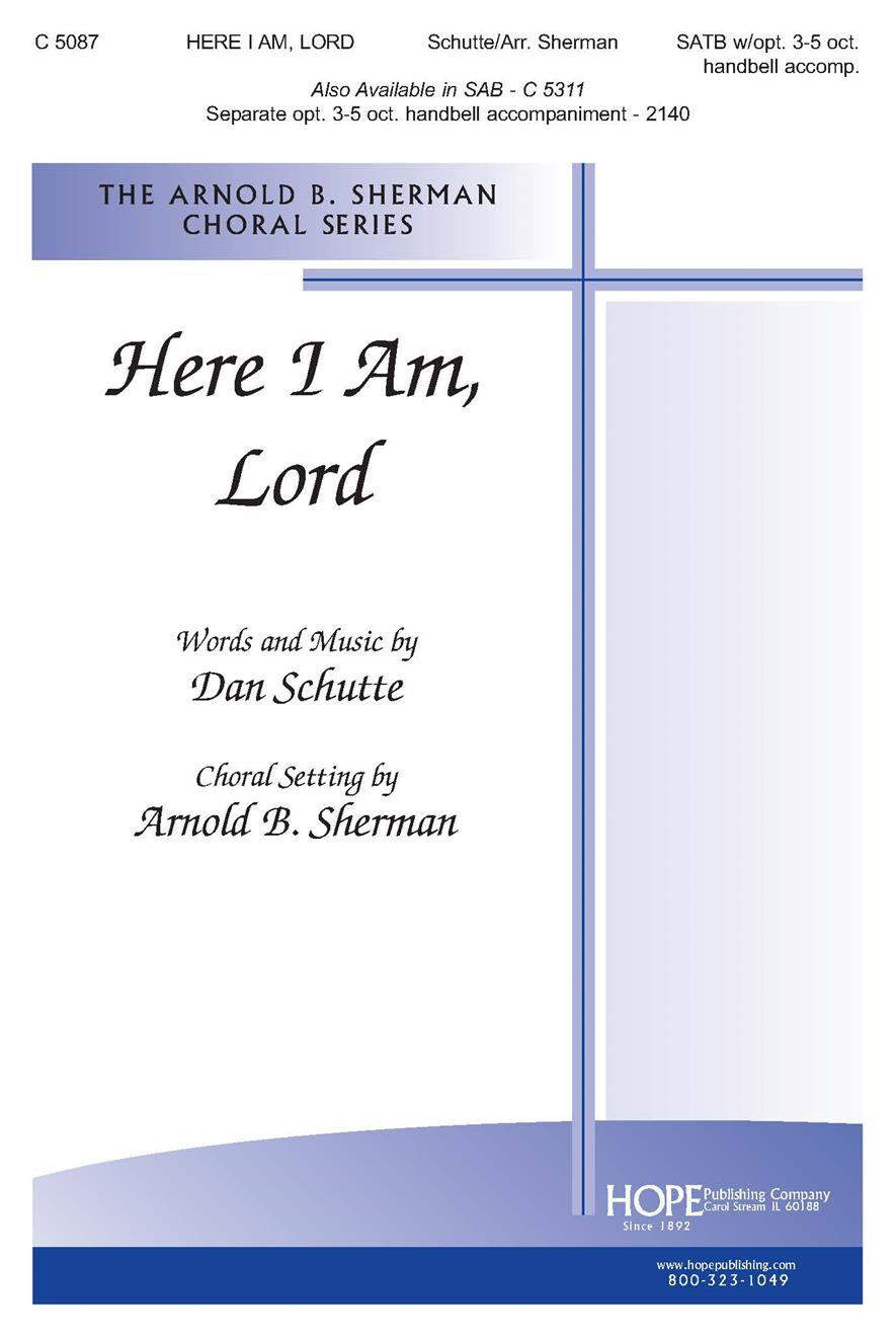 Here I Am Lord - SATB Cover Image