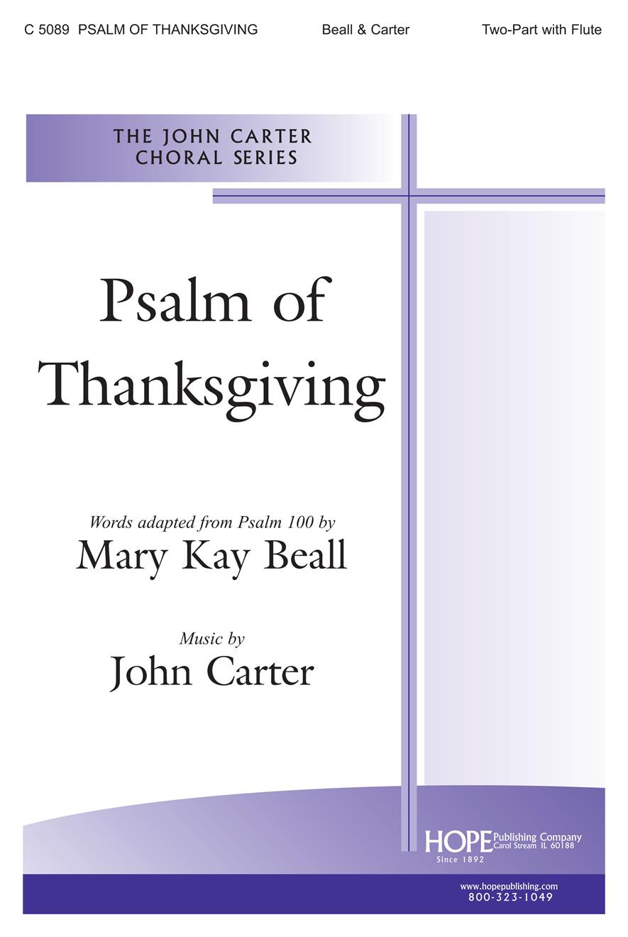 Psalm of Thanksgiving - Two Part and Flute Cover Image