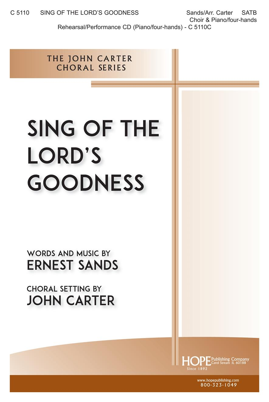 Sing of the Lord's Goodness - SATB and 4-Hand Piano Cover Image