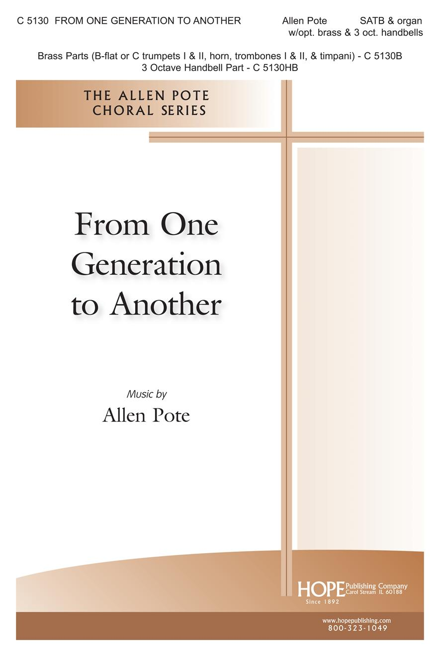 From One Generation to Another - SATB Cover Image