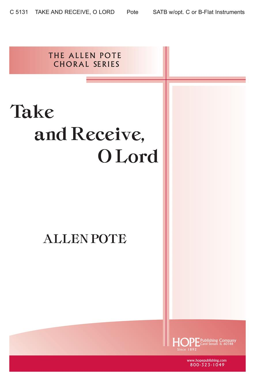 Take and Receive O Lord - SATB Cover Image