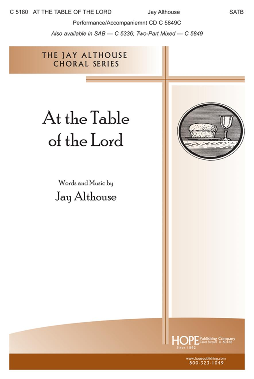At the Table of the Lord - SATB Cover Image
