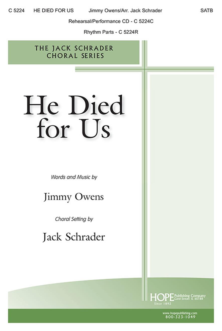 He Died for Us - SATB Cover Image