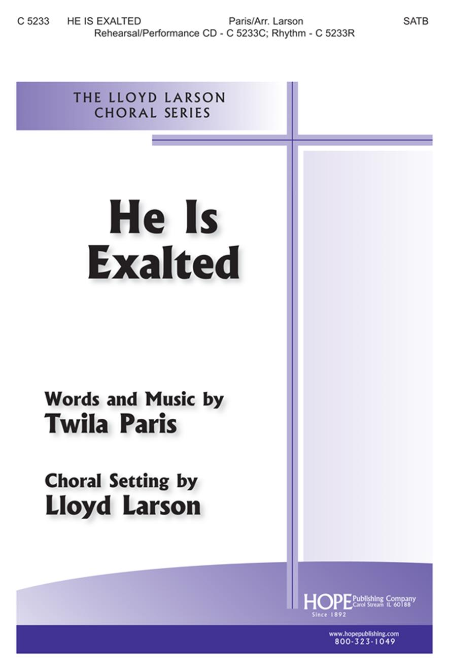 He Is Exalted - SATB Cover Image
