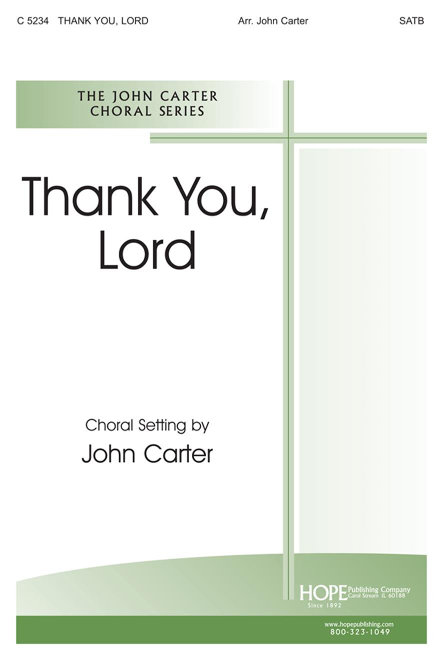 Thank You Lord - SATB Cover Image