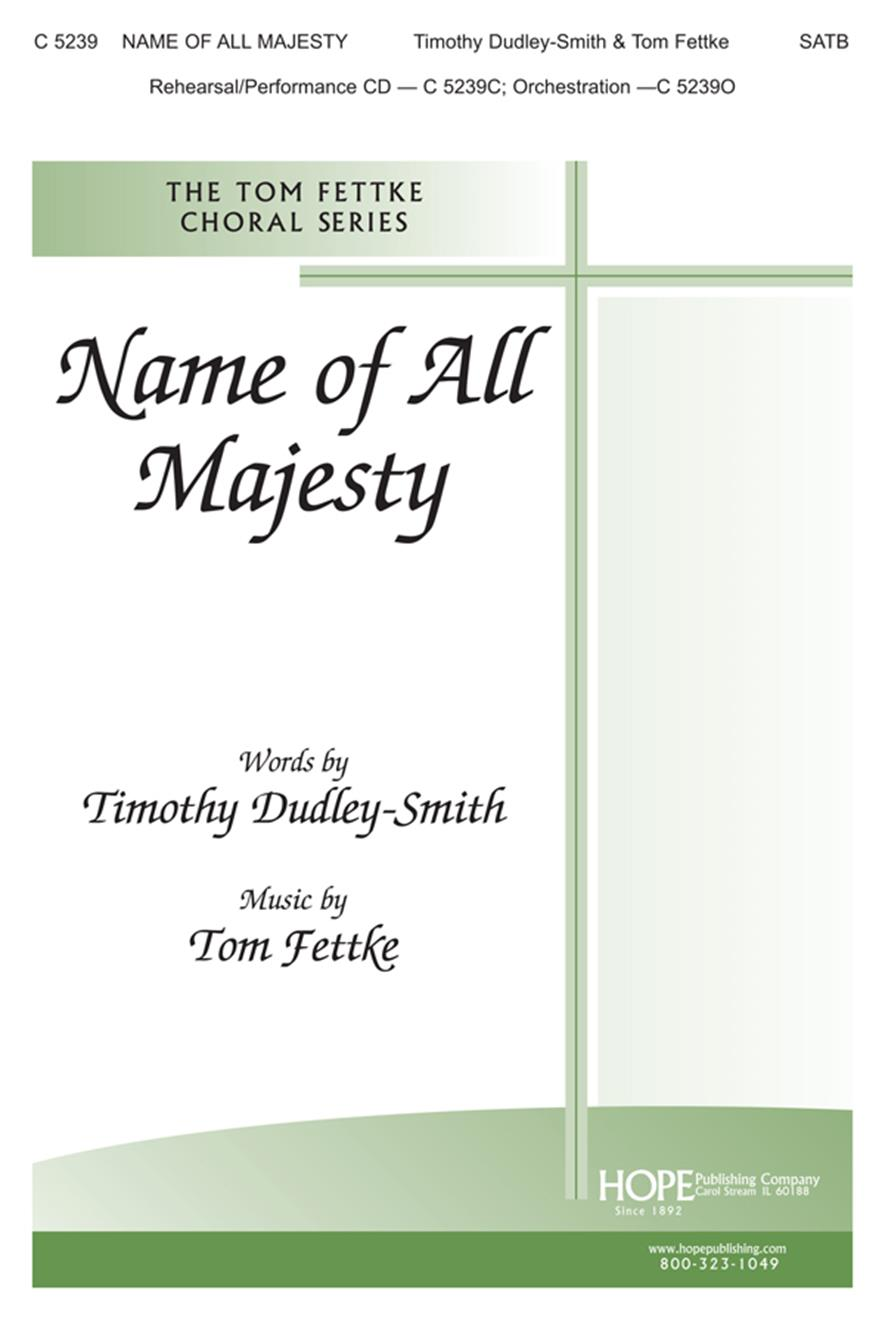 Name of All Majesty - SATB Cover Image