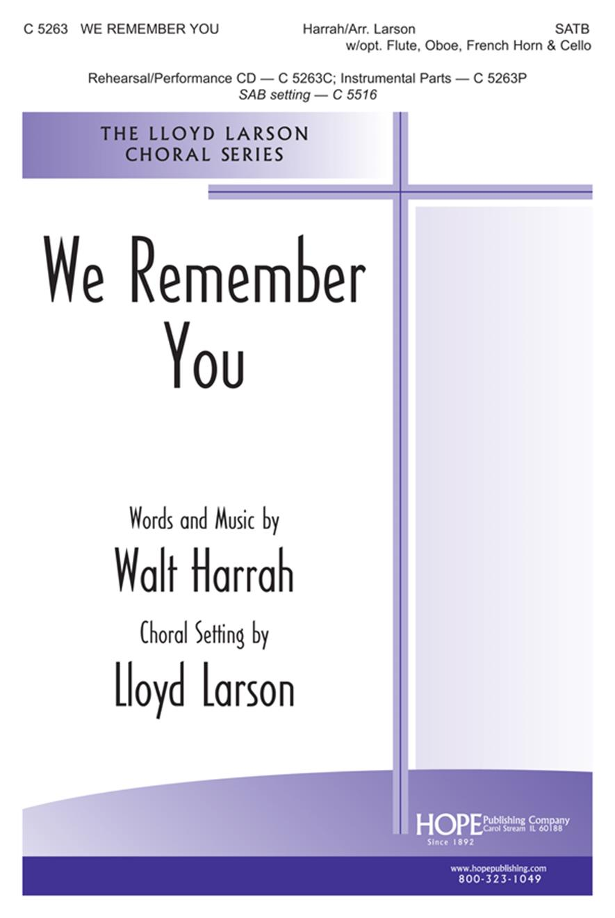 We Remember You - SATB w-opt. Inst. Cover Image