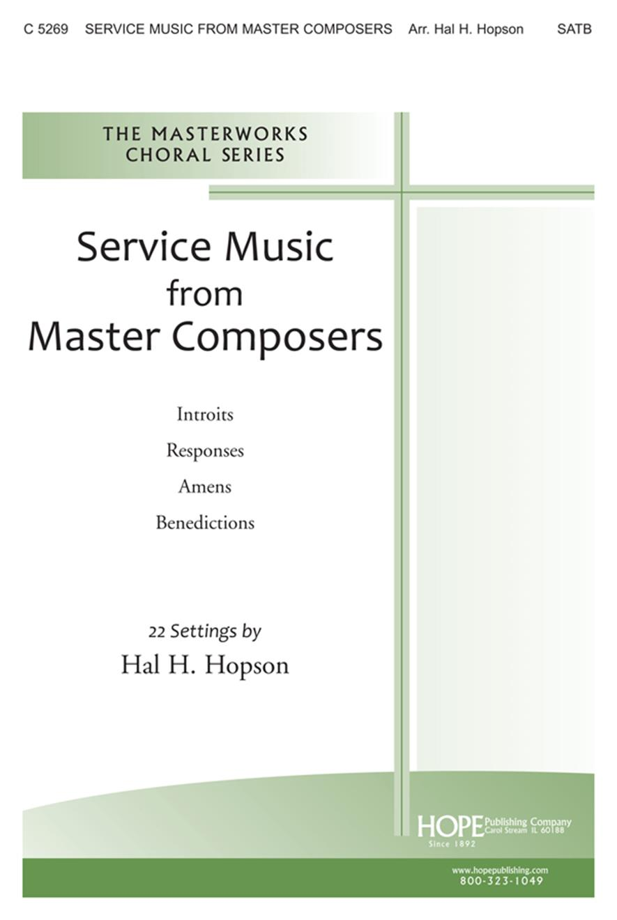 Service Music from Master Composers - SATB Cover Image