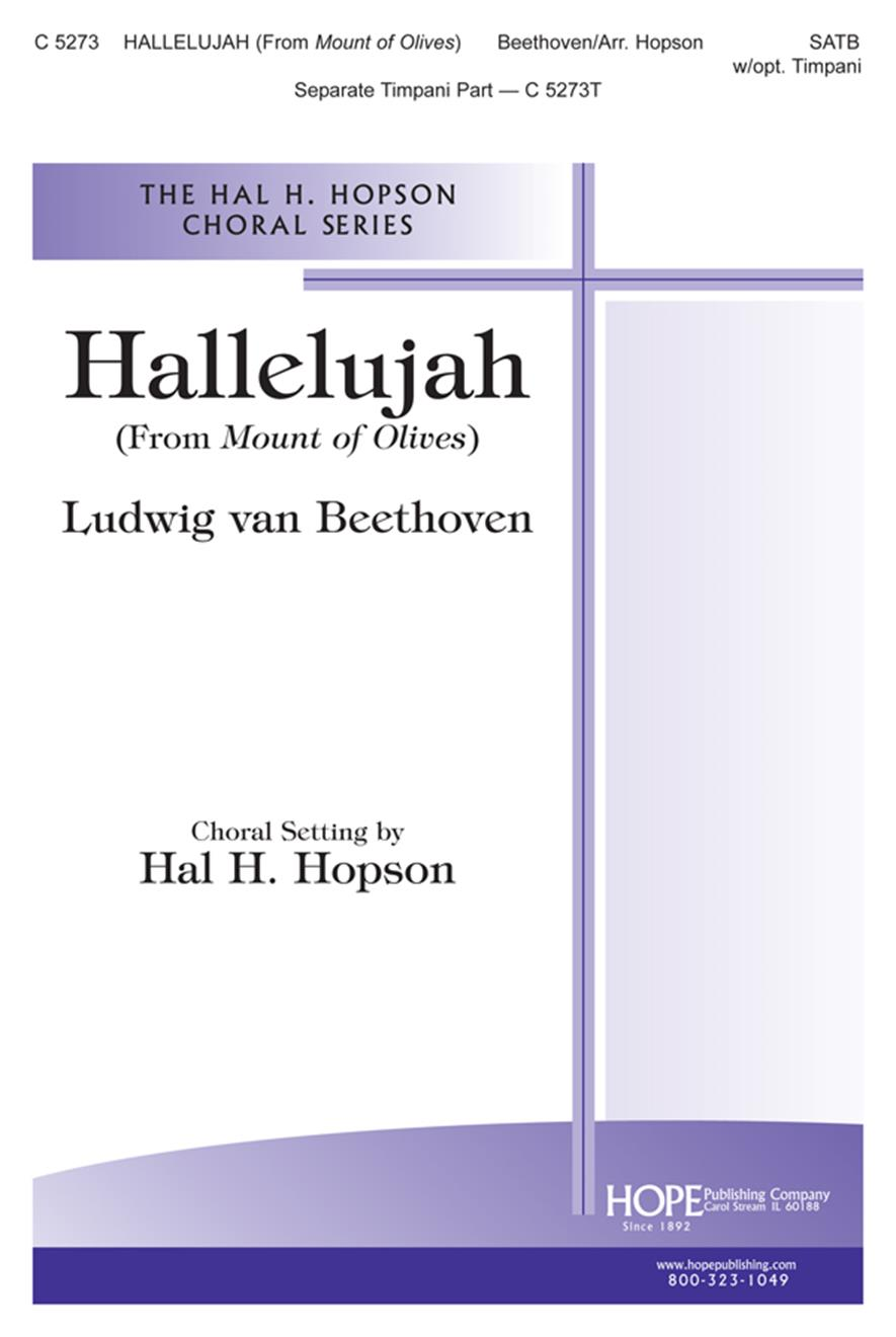 Hallelujah (from Mount of Olives) - SATB w-opt. Timpani Cover Image