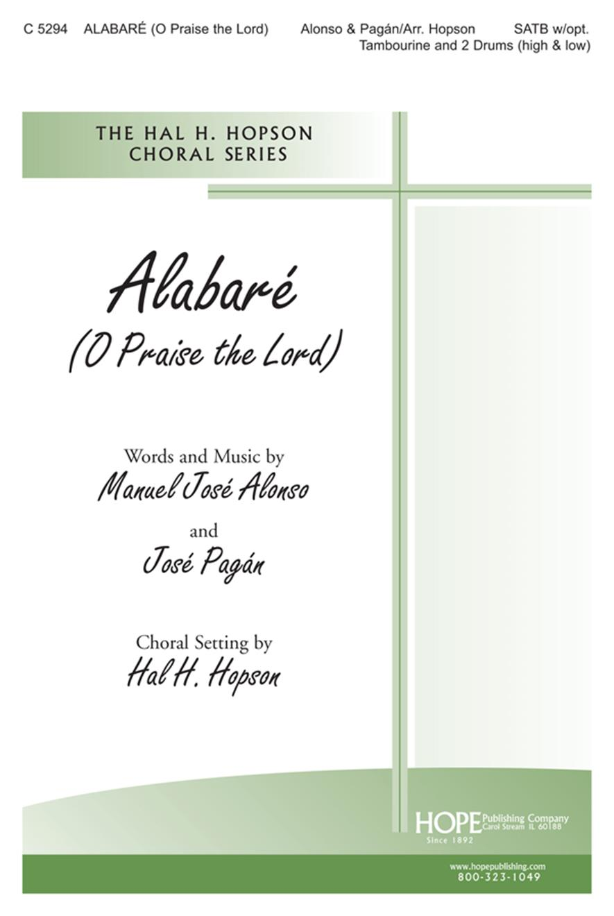 Alabaré - SATB w-opt. Tamb. and Drum Cover Image