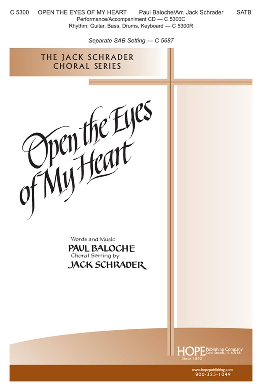 Open the Eyes of My Heart - SATB Cover Image