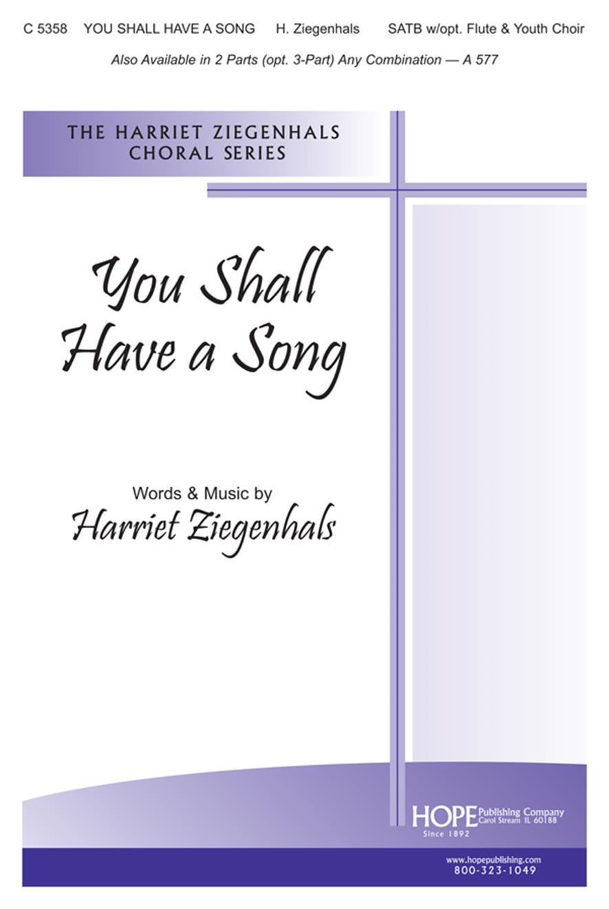 You Shall Have a Song - SATB w-opt. Flute Cover Image