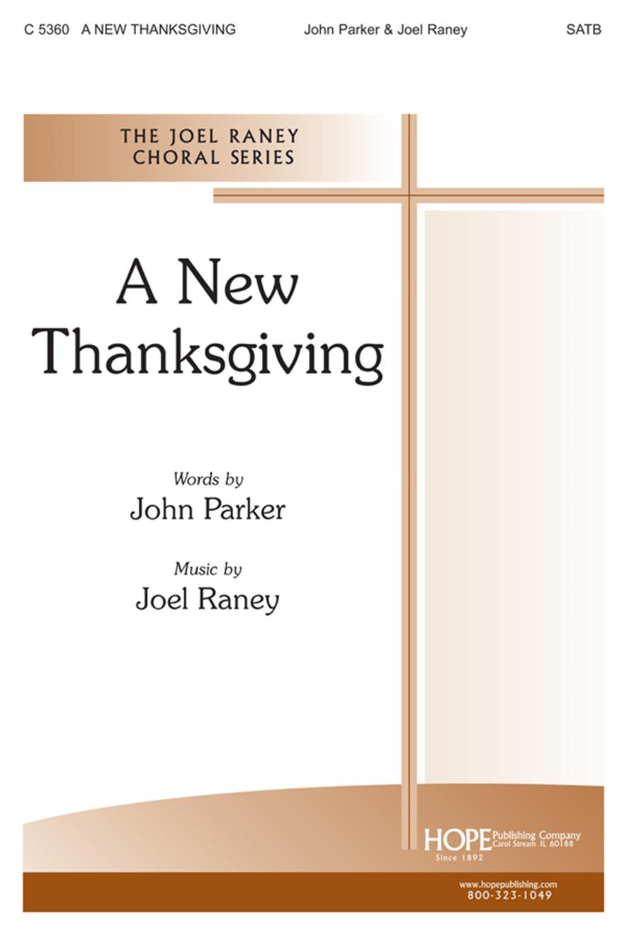 New Thanksgiving A - SATB Cover Image