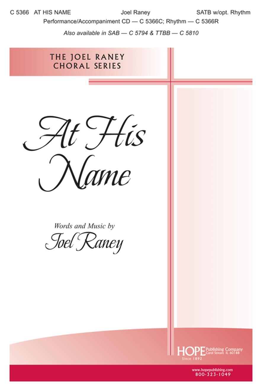 At His Name - SATB Cover Image