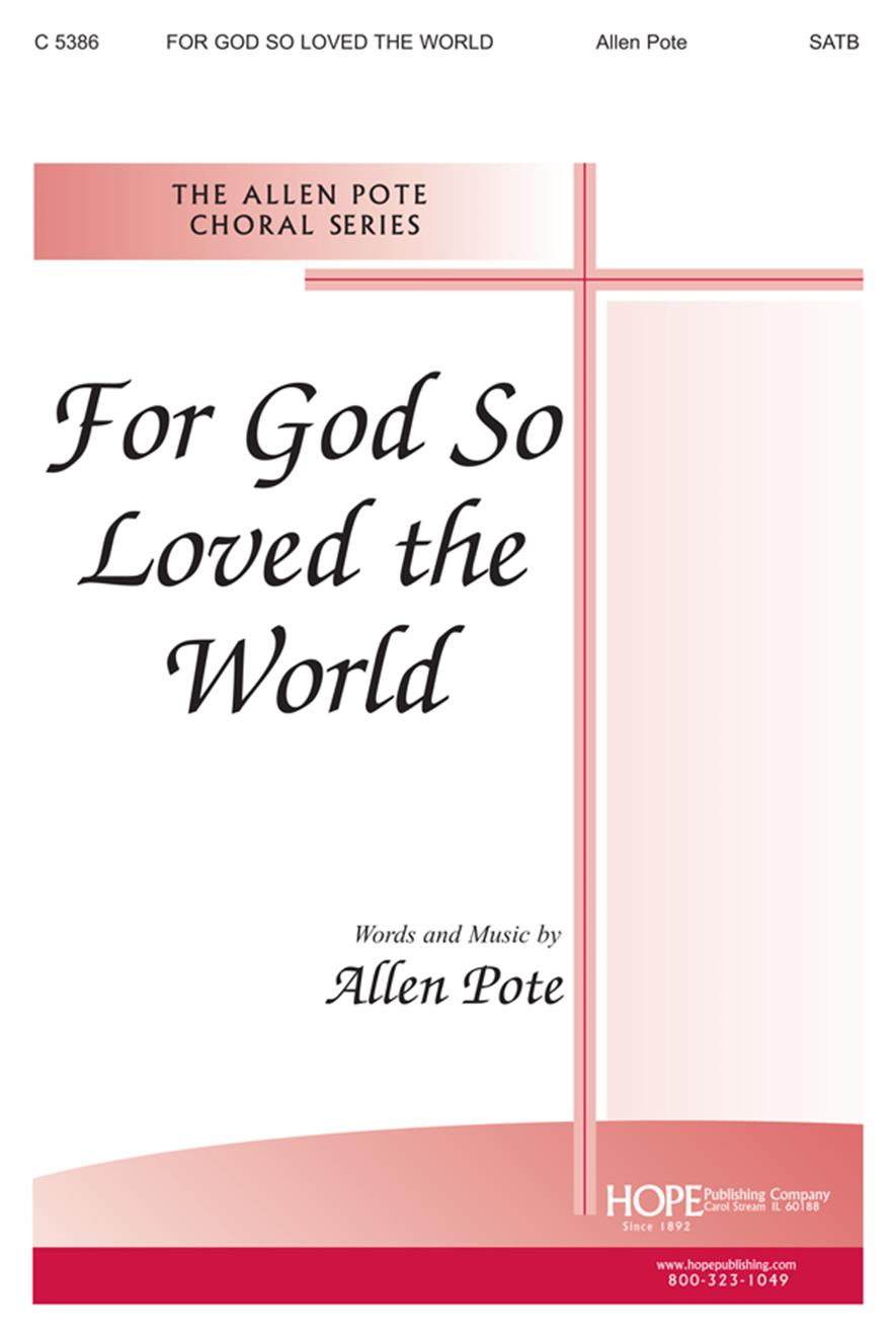 For God So Loved the World - SATB Cover Image