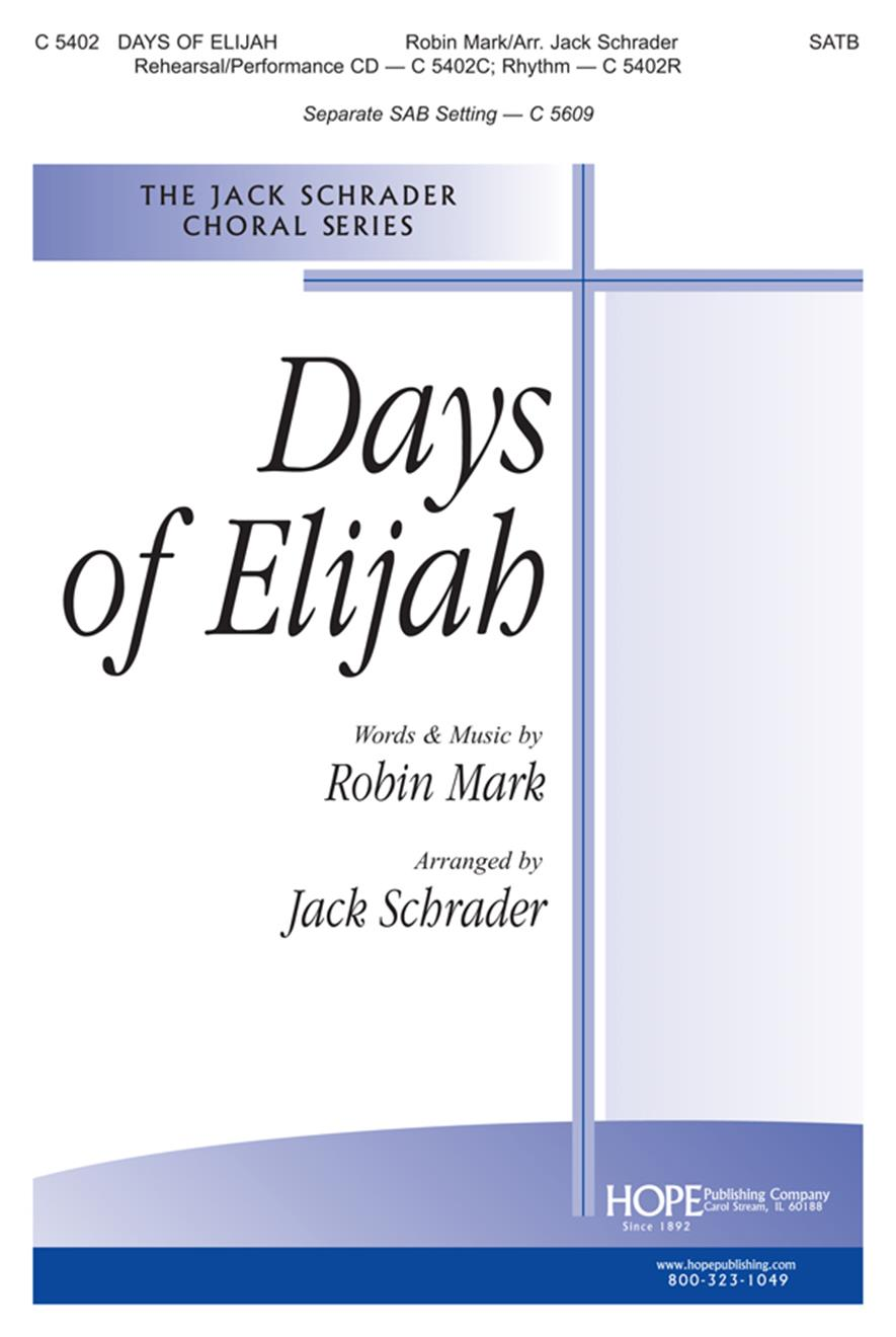 Days of Elijah - SATB Cover Image