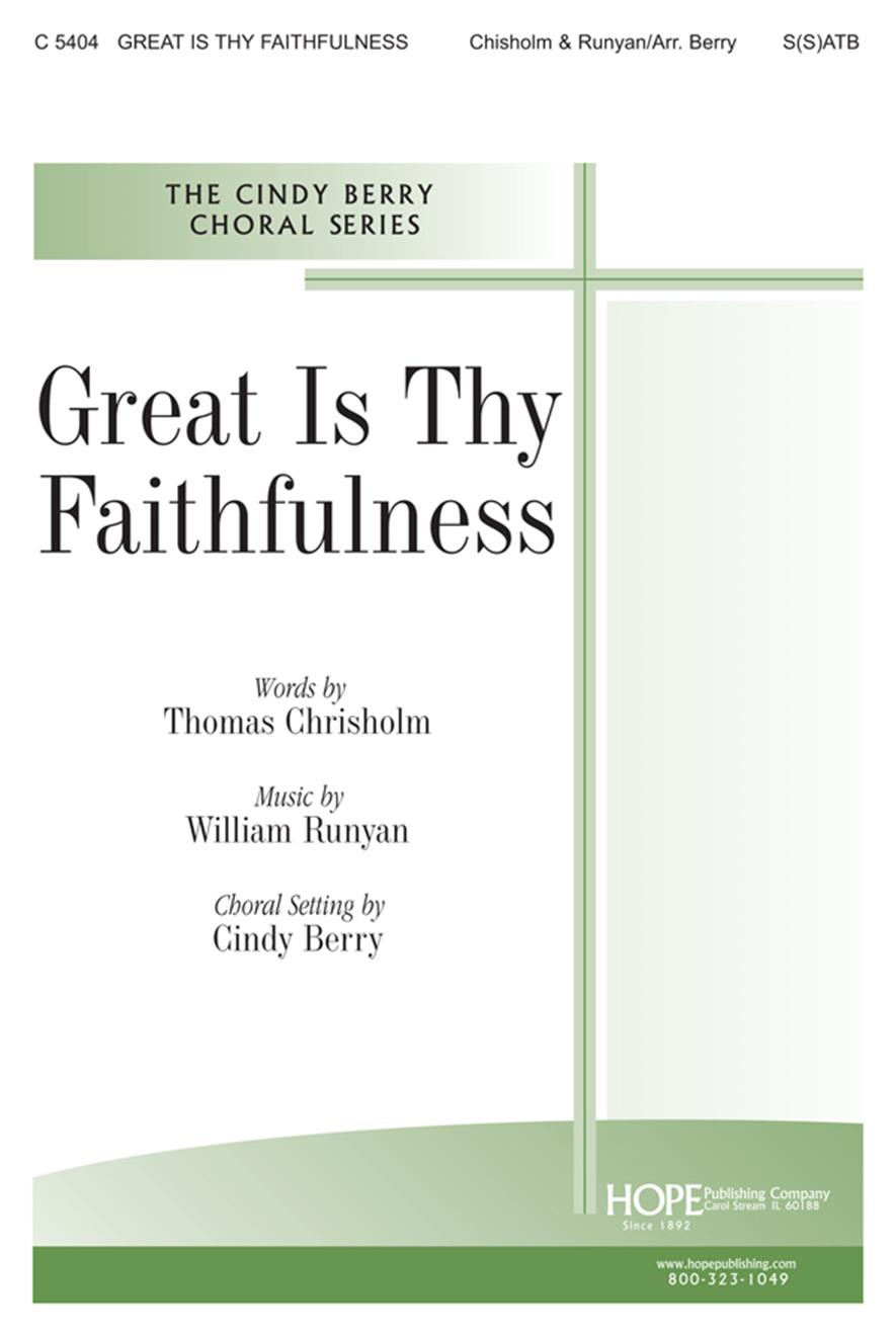 Great Is Thy Faithfulness - S(S)ATB Cover Image