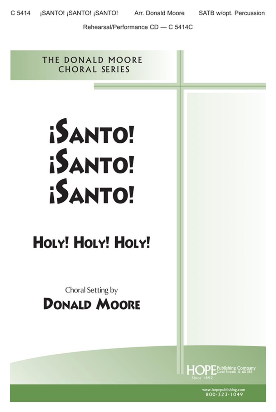 Santo Santo Santo - SATB w-opt. Percussion Cover Image
