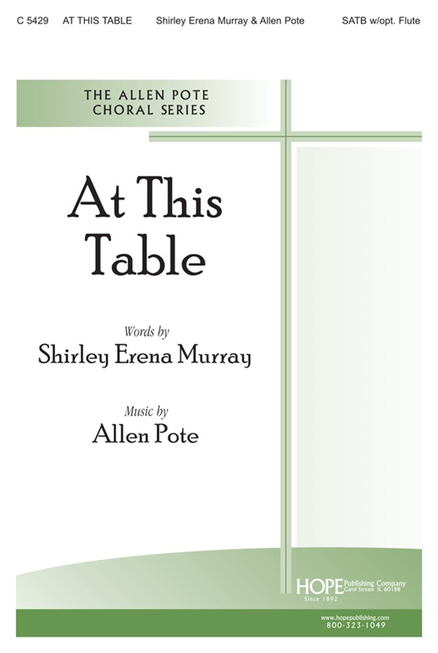 At This Table - SATB Cover Image