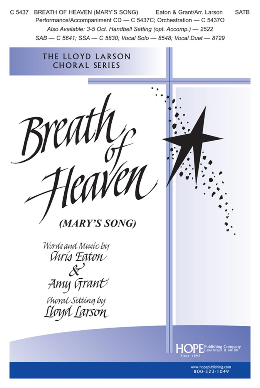 Breath of Heaven (Mary's Song) - SATB Cover Image