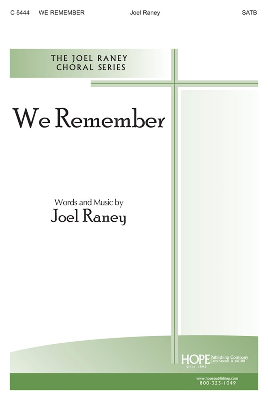 We Remember - SATB Cover Image