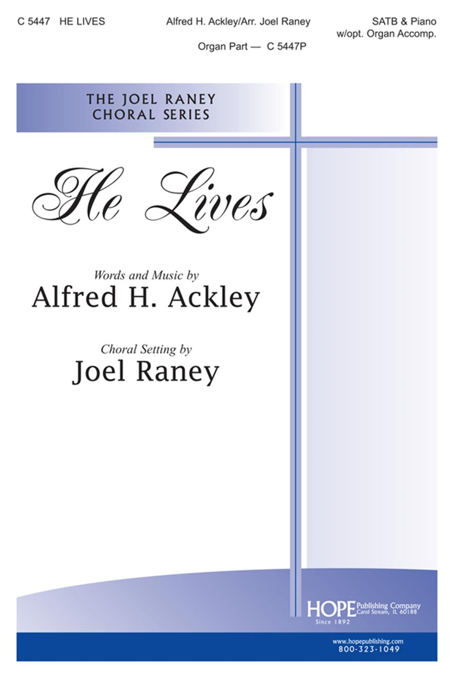 He Lives - SATB and Organ Cover Image
