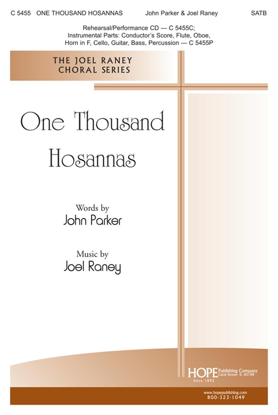 One Thousand Hosannas - SATB Cover Image