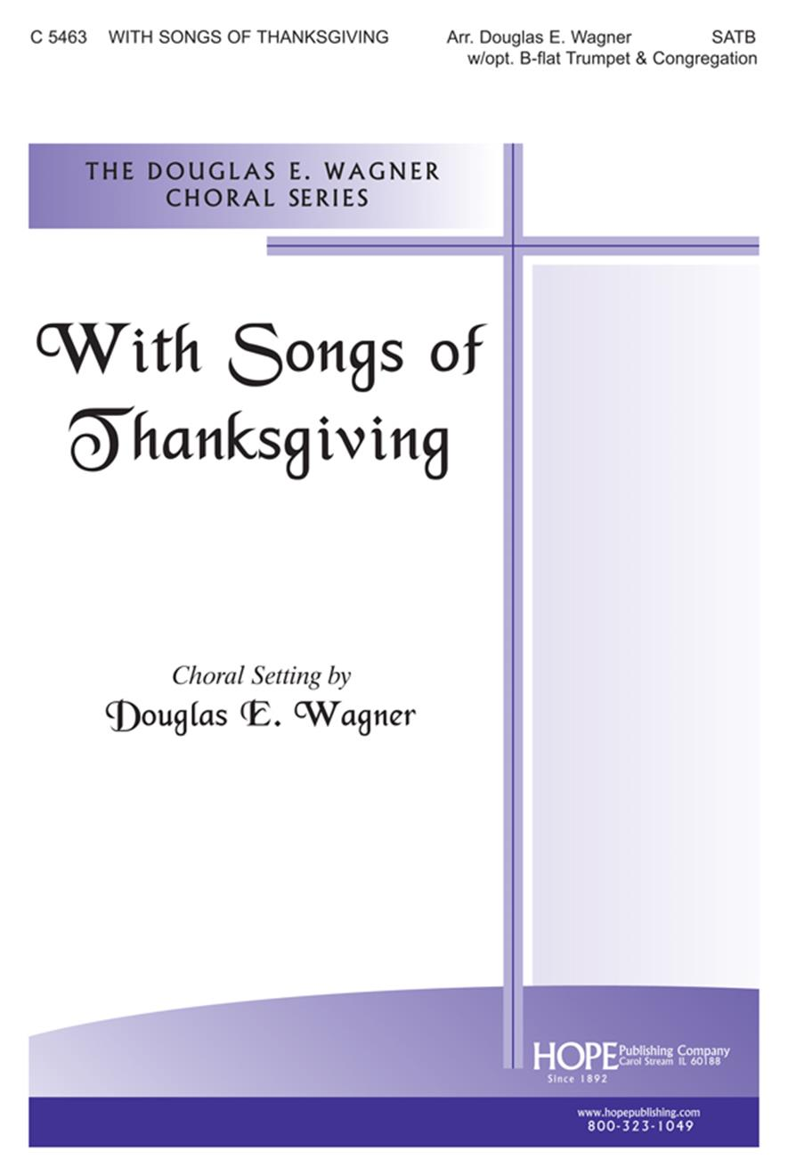 With Songs of Thanksgiving - SATB Cover Image
