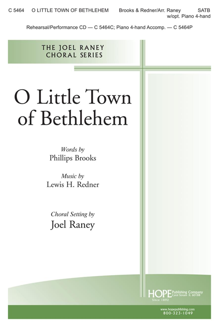 O Little Town of Bethlehem - SATB Cover Image