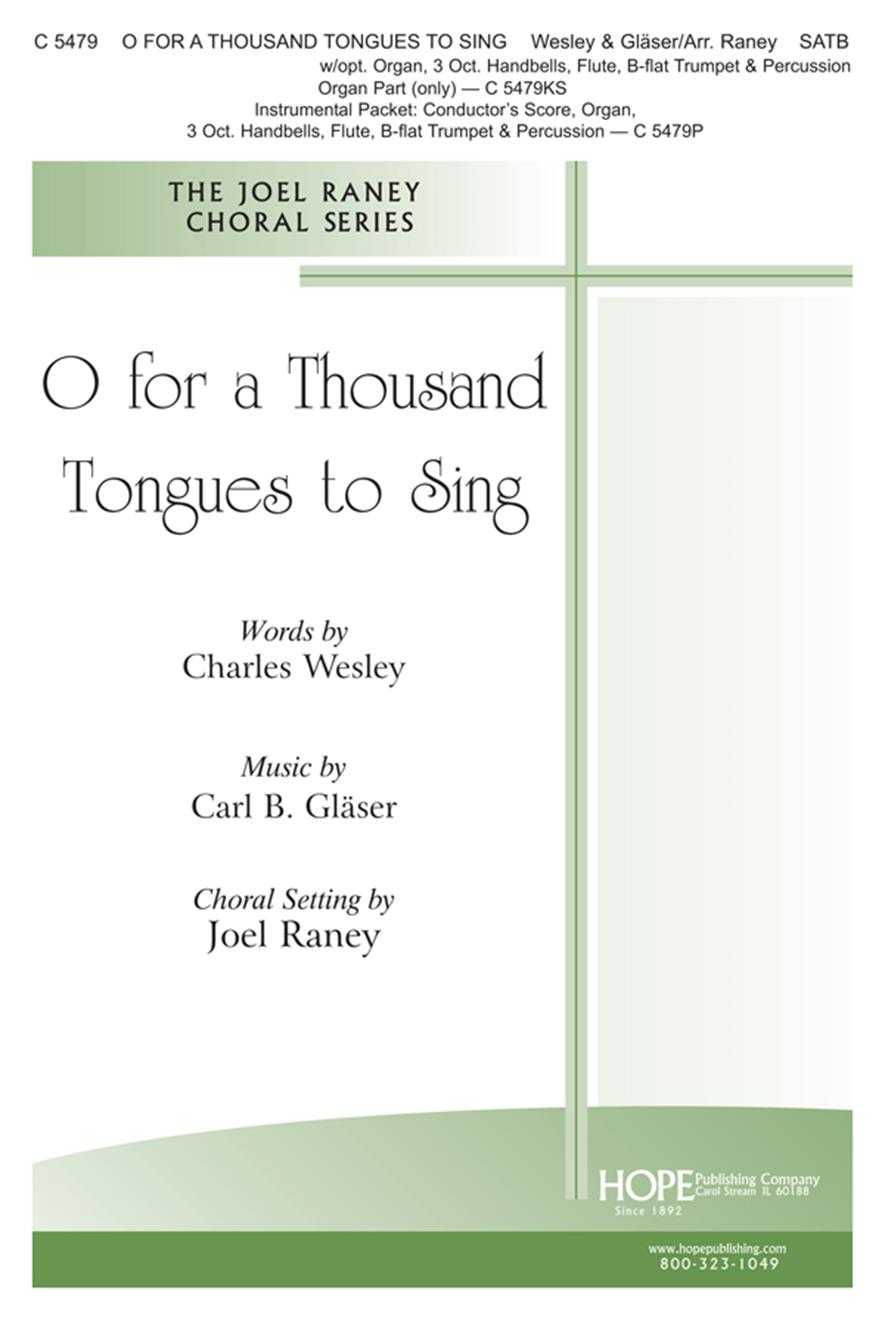 O for a Thousand Tongues to Sing - SATB Cover Image