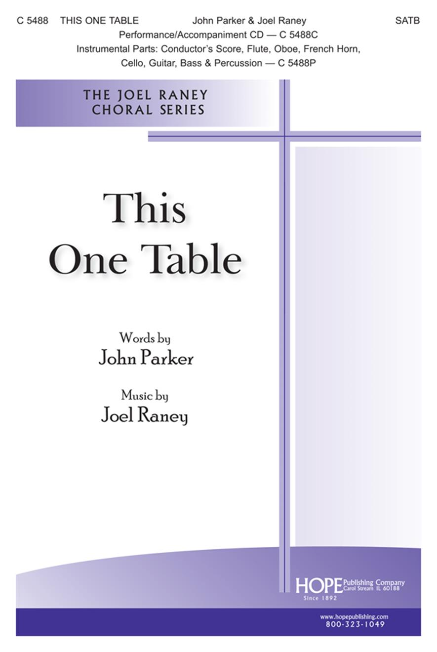 This One Table - SATB Cover Image