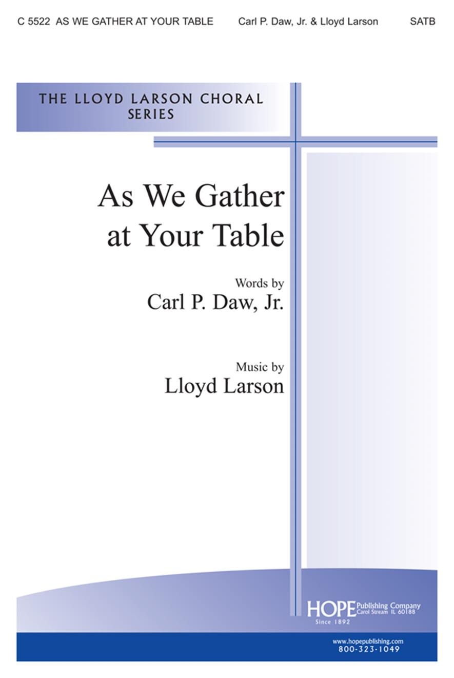 As We Gather at Your Table - SATB Cover Image