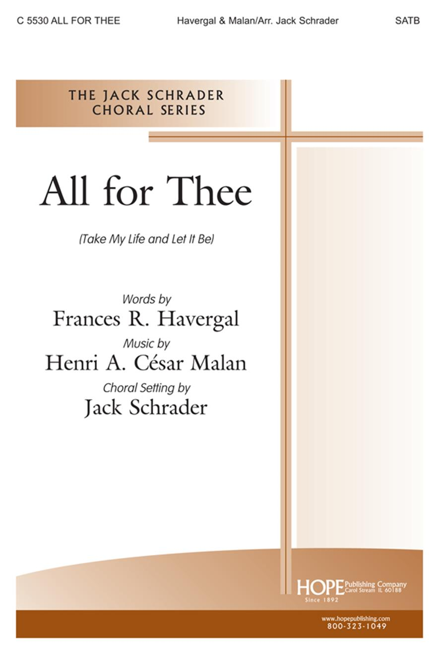 All For Thee - SATB Cover Image