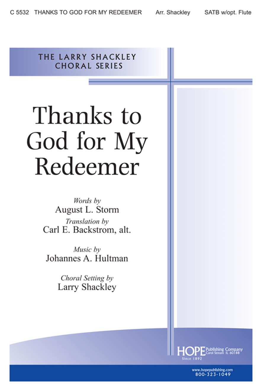 Thanks to God for My Redeemer - SATB w-flute Cover Image