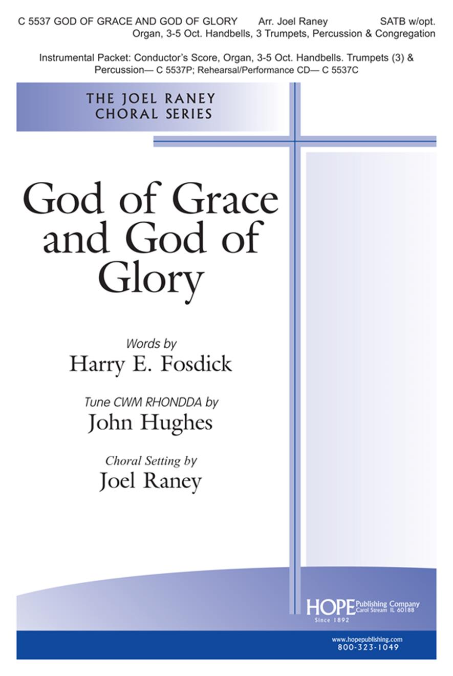 God of Grace and God of Glory - SATB w-opt. handbells Cover Image