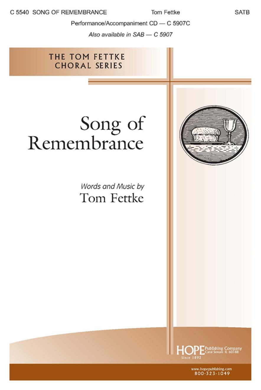 Song of Remembrance - SATB Cover Image