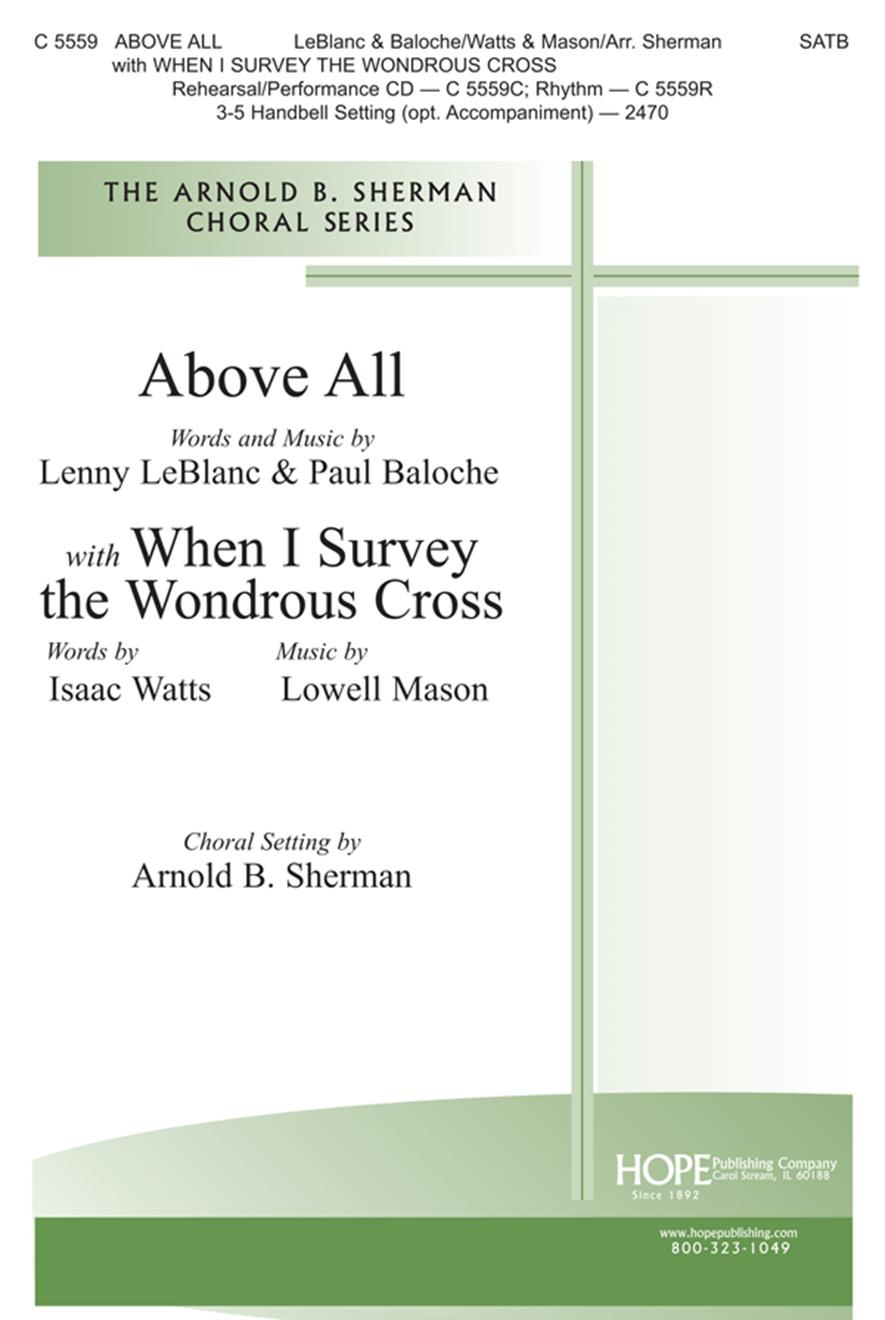 Above All w-When I Survey the Wondrous Cross - SATB Cover Image