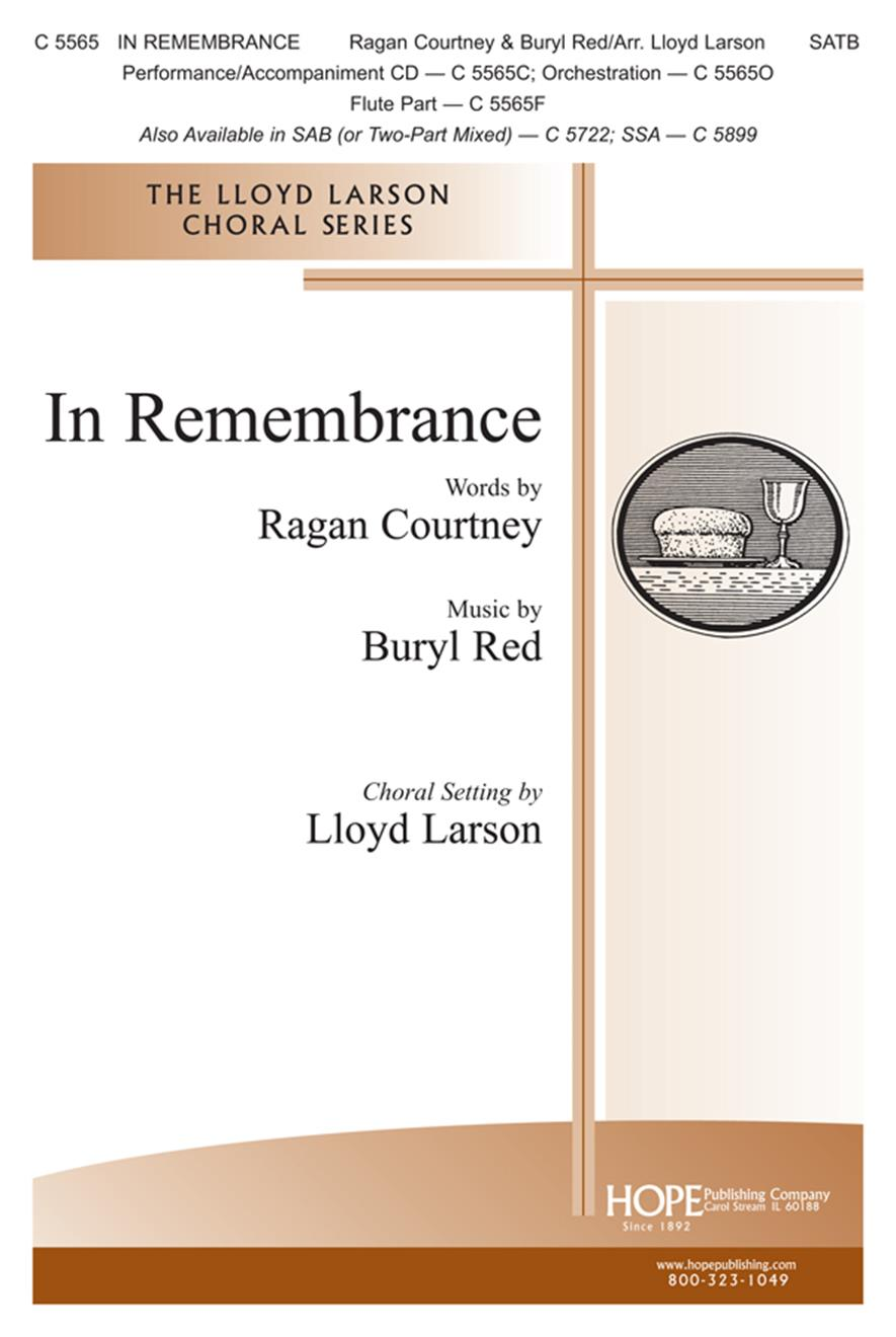 In Remembrance - SATB Cover Image