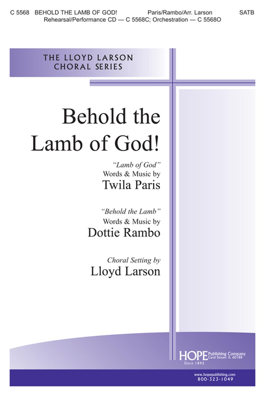 Behold the Lamb of God w-Lamb of God - SATB Cover Image